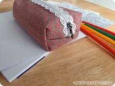 Kleines Stifte- oder Kosmetik-Etiu mit Link zur Anleitung