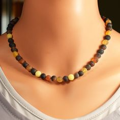 Adult Amber Necklace Raw Amber Necklace Genuine by BalticAmberCity