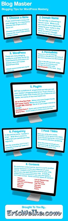 Blogging Tips For WordPress Mastery - Infographic - http://www.boxile.net/digital-marketing-services.php #wordpress #wordpressthemes #wordpresstips