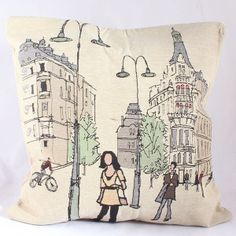 Dekorační povlak na polštář Lampy na náměstí Burlap, Reusable Tote Bags, Throw Pillows, Hessian Fabric, Jute, Canvas