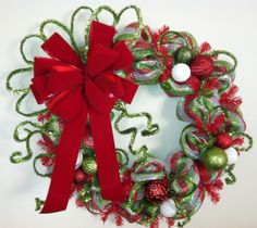 33 Inch Whimsical Red Lime Green White Green by TheRedHenHouse, $65.00