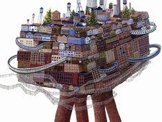 Wacky Building Illustrations by Amy Casey