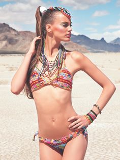 Bendita Cartagena jovial and colorful bikini with Colombian inspired print