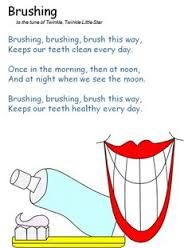 """Dentaltown - Sing these lyrics to your children when you brush their teeth to the tune of Wolfgang Mozart Amadeus's song """"Twinkle Twinkle Little Star"""" which is also the same tune used in the """"Alphabet Song"""". Hygiene Lessons, Preschool Poems, Dental Health Month, Oral Health, Music For Toddlers, Health Activities, Space Activities, Kids Songs, Teeth Cleaning"""