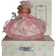 Nancy Ann Story Book Bisque Doll MIB Nursery Rhyme Series #160 Pretty Maid