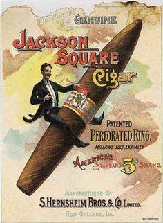 Jackson Square Cigar - Manufactured by S. Hernsheim Bros. & Co. New Orleans, LA