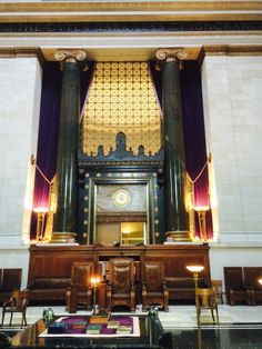 Grand Commander's Chair Main Temple Room House of the Temple Washington DC