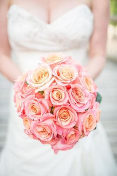 The Miss Piggy rose has become a firm bridal favourite as it crosses over the colour scheme's of pink or peach perfectly.