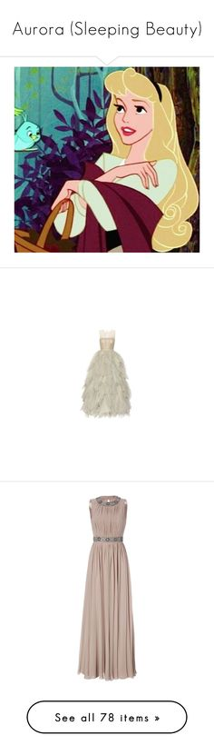 """""""Aurora (Sleeping Beauty)"""" by happy-fashionx ❤ liked on Polyvore featuring intimates, disney, icons, aurora, disney icons, sleeping beauty, dresses, gowns, ball gown and long dresses"""
