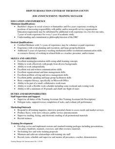 resume cover letter training coordinator resume cover letter