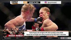 Dana White  'Ronda Rousey Won't Fight at UFC 205' -ESPN First Take  Ronda Rousey Won't Fight UFC 205