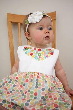button party dress