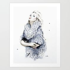 Falling For You Art Print by Anna Hammer - $20.00