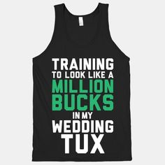 Training For The Tux #tux #groom #wedding