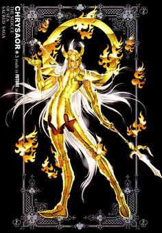 Scanned from the green Zeus covered Sacred Saga book by Future Studio. Named after Krishna, he wears the Poseidon Scale of Medusa the Gorgons son Chrysaor. Sacred Saga, Krishna, Goddess Of Grain, Saga Art, Artemis Goddess, Knights Of The Zodiac, Asgard, Greek Gods, Animation