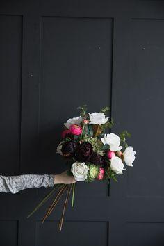 Faux Flowers   Rose & Grey