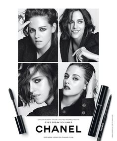 Scan: Kristen Stewart para a Campanha de Maquiagem da Chanel na ELLE US