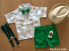 Ropa Safari Theme Birthday, Wild One Birthday Party, Safari Birthday Party, Baby Boy Birthday, Jungle Party, Boy Birthday Parties, Baby Party, Safari Costume, Safari Outfits