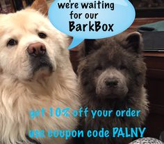 Order your pet some toys or treats from BarkBox today! They even have a monthly box you can have delivered with surprises for your pet! Awesome website with tons of neat things for pets! Get 10% off your order with coupon code PALNY