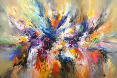 """Saatchi Art Artist Peter Nottrott; Painting, """"Abstract painting Incredible XL 2"""" #art"""