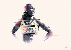 : one of my favorite athletes from this series of beautful illustrations of very successful people : On the wall by Bram Vanhaeren, via Behance