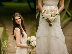 stunning bride and her bouquet. Florals by Flower Factory. Photo by Union Photography.