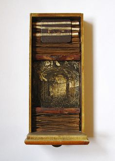 Assemblage in old drawer, by Tomcra Collages, Collage Art, Box Frame Art, Box Art, Found Object Art, Found Art, Max Ernst, Assemblage Art, Sculpture
