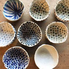 Happy Wednesday New unique dotted bowls #pollipots #bowl #creativepreneur #new #maker #potteryshop #scandinavian #smallshop #unique #oneofkind #craft #etsyshop #craft #makersgonnamake #handmade #dinnerplate #food #foodstyling #foodstylist #rusticdecor