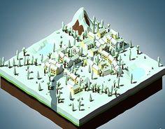 Isometric perspective - winter landscapeCreated on with Blender Asset - Game Development 3d Assets, Blender 3d, Winter, Artwork, Winter Time, Work Of Art, Auguste Rodin Artwork, Artworks, Illustrators