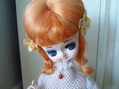 Kitsch Retro Rare Bradley Style Artmark Big Eyed Pose Stockinette Doll Sitting…