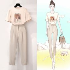 It is a matching outfit from top to bottom and it is very good for summer you can wear it at day and at night also Fashion Drawing Dresses, Fashion Illustration Dresses, Fashion Dresses, Korean Street Fashion, Korea Fashion, Asian Fashion, Teen Fashion Outfits, Stylish Outfits, Mode Kpop