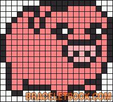 Waddles Gravity Falls perler bead pattern