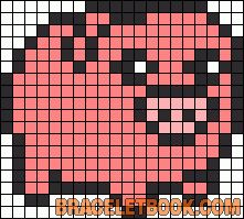 Waddles Gravity Falls perler bead pattern i will do this along with my Bill one