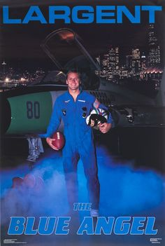 Steve Largent - remember this poster. I had one in my room.