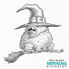https://flic.kr/p/LTisCm | Toad Witch! #morningscribbles #spookyscribbles