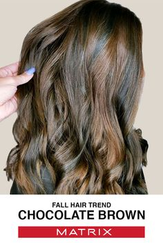 Fall is the best time to explore chocolate brown hair color. Visit www.matrix.com to learn more about Fall Hair Color Trends!