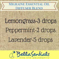 Migraine Essential Oil Blends   Essential Oils for Headaches   www.bellasentials.com  