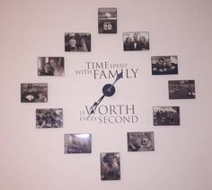photo wall clock DIY