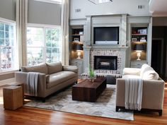 Fireplace and bookcase ideas