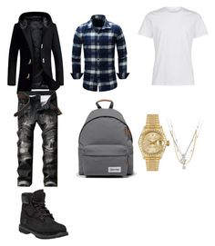 """""""Dope"""" by iamaballer ❤ liked on Polyvore featuring Timberland, Eastpak, Rolex, Forzieri and Bianca Pratt"""