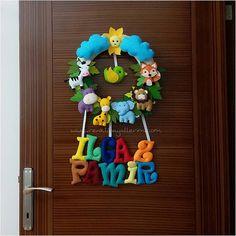 ılgaz pamir isimli safari bebek kapı süsü - Renkli Hayallerim