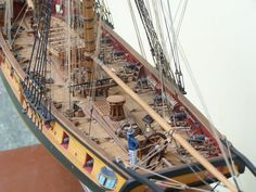 "Ship model ""USS Syren"" brig  From http://www.shipmodel.com/"