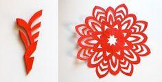 Arte Color: Copos de nieve, Estrellas y Corazones de papel