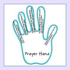 prayer hand. teach kids to pray or journal