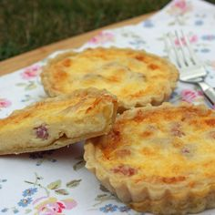 This creamy classic Individual Quiche Lorraine Recipe is truly delightful and great to take on a picnic or served warm as a lunchtime bite.