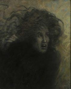 Lucien Lévy-Dhurmer (1865-1953), L'Effroi
