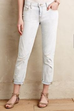 Pilcro Hyphen Relaxed Jeans Bleach Out Destroy 27 Petite Denim #anthrofave