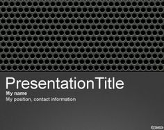 Perforated Metal PowerPoint template is another metal variant background for PowerPoint that you can use for professional PowerPoint templates that require a metal effect