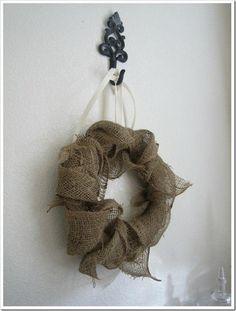 Burlap wreath.. beautifully simple