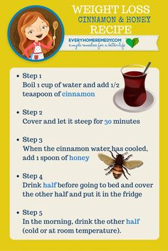 Cinnamon and Honey for Weight Loss! (Quick Recipe) #weight #honey #weighloss